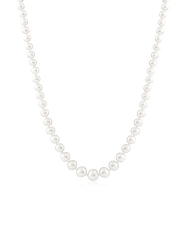 Splendid Pearl Graduated White Cultured Pearl Necklace