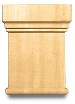 White River # CM2409-CH, Medium Traditional Capital, 4 inch W x 1-1/8 inch D x 5-1/4 inch H, Cherry (Capital Of Ch compare prices)