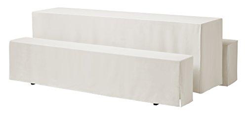 637117 Hussen-Set Rialto für Festzeltgarnitur, 100% Polyester, 220 x 70 cm, creme