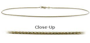10 K Yellow Gold 9 Inch Snake Style Anklet