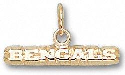 Cincinnati Bengals 10K Gold ''BENGALS'' 1/8'' Pendant