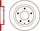 Mazda 323 2.0L Aug/1994>Oct/1998 Rear Brake Discs