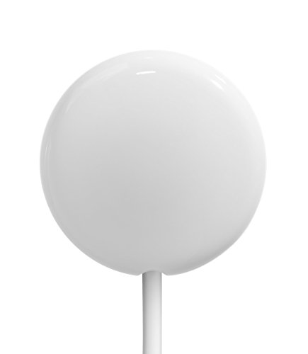 Clingless Curtain Keeper, Round, White (Round Shower Curtains compare prices)