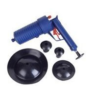Clear clogs with a gentle burst of air--simply pump the Drain Blaster & release the trigger