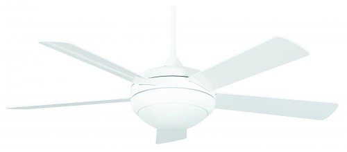 Concord 52SAT5EWH Ceiling Fans with Opal Glass Shades, White Finish