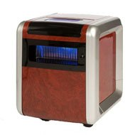 B004AHC5WA American Comfort R4 1500W 9000BTU Heater Air Purifier Adjustable PTC Ceramic Infrared Woodgrain