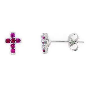 Sterling Silver Created Pink Sapphire