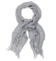 M&S Collection Cashmilon™ Marl Ruffle Scarf