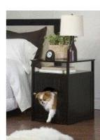 Big Sale Night Stand Pet House in Espresso