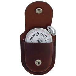 Brown Premium Leather Pocket Watch Holder with Belt Loop