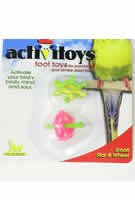 JW Pet Company Insight Foot Toy Wheel And Star Small Bird Toy Assorted Colors