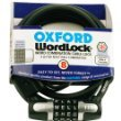 WL110 - Oxford Wordlock 4 Combination Cable Lock Black 8mm x 1.5M