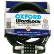 WL110 - Oxford Wordlock 4 Combination Cable Lock Black 8mm x 1.5M