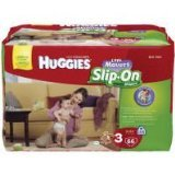 HUGGIES Little Movers Slip-On Diapers Big Pack - Size 3 66ct.