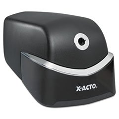 ** Quiet Electric Pencil Sharpener, Black/Silver **