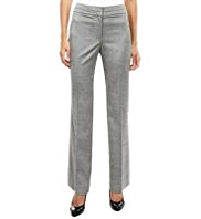 M&S Collection Jet Waistband Luxury Tonic Trousers with New Wool