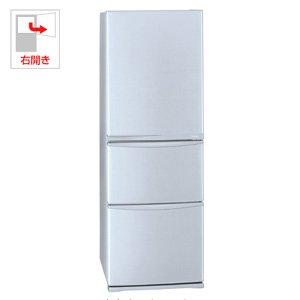 東芝 375L 3ドア冷蔵庫(ブライトシルバー)TOSHIBA 置けちゃうスリム GR-E38N-SS