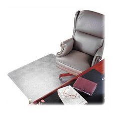 "Deflect-O Corporation Products - Chair Mat, Rectangular, Beveled Edge, 45""x53"" - Sold as 1 EA - Protect your special rugs, carpet and flooring from damage caused by chair wheels. Ideal for plush, high pile or heavily padded carpets over 3/4"" thick. Vinyl, classic mat offers maximum transparency and durability. Blunt end studs won't pierce or damage your carpet backing. Beveled edge allows smooth on-and-off chair movement. Textured top surface is slip-resistant and scuff-resistant. Chairmat is al"