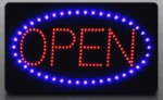 """Large Dynamic Led Open Sign - 3 Display Modes - 13'' X 22"""""""