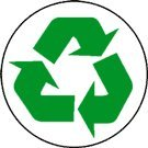 Recycling Symbol Green Large 12