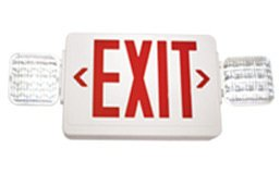 Red Led Exit Sign Combo With Led Lights, Universal Enclosure Design Ideal For Any Commercial, Institutional, Or Industrial Application.