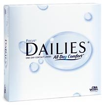 Focus Dailies (box of 90) Contact Lenses (90 lenses/box – 1 box)