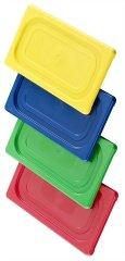 GN couvercle en polypropylène coloré, dans le système hACCP couleur de codage des équipements füllinhalts pieces micro-ondable et lave-vaisselle, sans goût, gN couleur poids : 360 g.