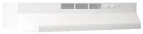 Broan 413001 ADA Capable Non-Ducted Under-Cabinet Range Hood, 30-Inch, White (30 Stove Hood White compare prices)