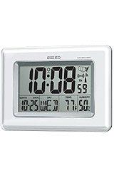 SeikoClock Advanced Technology Digital Grey Dial Desk clock #QHR020WLH