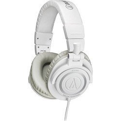 Audio-Technica ATH-M50 Professional Closed-Back Studio headphones ( earphone ) with Coiled Cable (Ice White) [parallel import goods]