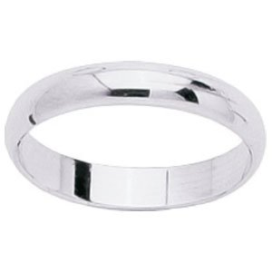 So Chic Jewels - 18k White Gold 3.5 mm Classic Wedding Band Ring