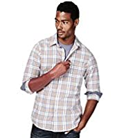 North Coast Pure Cotton Checked Shirt & T-Shirt Set