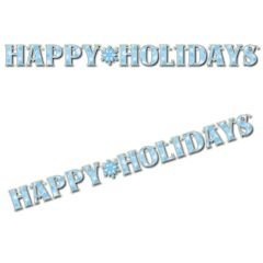 Snowflake Happy Holidays Letter Banner 7ft