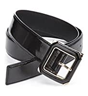 Patent Square Buckle Belt