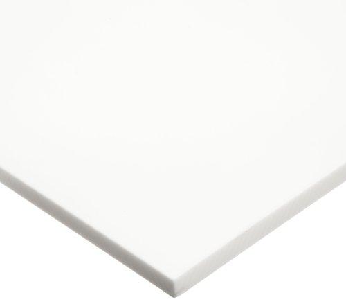 "Teflon TFE Sheet, White, 1/8"" Thick, 12"" Width, 12"" Length"