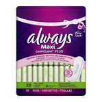 Always Maxi Soft & Clean With Odor-Lock Long/Super Without Wings, Lightly Scented Pads, 39-Count (Pack of 6)