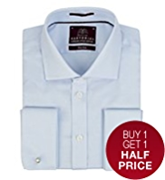 2in Longer Sartorial Pure Cotton Striped Twill Shirt