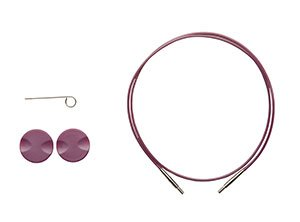 Options Interchangeable Circular Knitting Needle Cables - Purple Cables