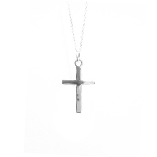 apop nyc Sterling Silver Plain Cross Pendant Necklace 16 inch - 24 inch (24 Inches)