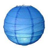 1 x 12 30cm Blue Round Rice Paper Hanging Lampshade