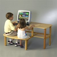 Buy Low Price Comfortable Wild Zoo Furniture B-D WHT-WHT-WZ Grade School Buddy Computer Desk in White with White Trim (B0029L61YW)