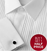 Sartorial Pure Cotton Pleated Dinner Shirt with Stain Defence™