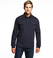Blue Harbour Cotton Rich Twin Pockets Polo Shirt