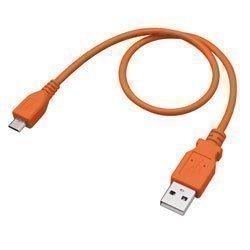 グリーンハウス USB充電/データ転送ケーブル 30cm (microBタイプ-Aタイプ) オレンジ GH-USB-MB30D