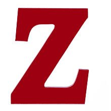 """Wooden """"Z"""" Letter Hanging Initials Color: Red front-1057862"""