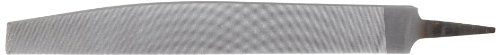 """Nicholson Triangular Knife Hand File, Double Cut, American Pattern, Second Cut, 8"""" Length (Pack of 1)"""