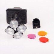 Shoot XT-4 8-LED Video Light Lamp 2W Bulbs 6300K Photographic Lighting for Canon Nikon Camera DV Camcorder