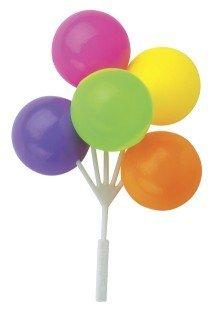 Neon Balloon Bouquet Cluster Cake Topper Decorative