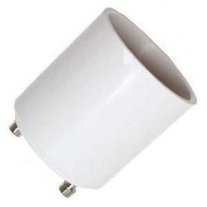 Lanlan Gu24 To E26 Adapter - Converts Your Pin Base Fixture (Gu24) To Standard Screw-In Bulb Socket (E26)