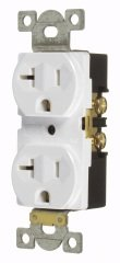 (Pack of 10 PCS in a Box) Vista 45128 - INDUSTRIAL STANDARD HEAVY DUTY 20A DUPLEX OUTLET 125V, White Color, NEMA 5-20R